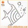 Garment decoration fish rhinestone iron on label transfers