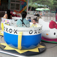 Kids games rotating coffee cup ride for sale