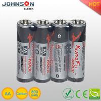 Hot sale 1.5v aa size carbon battery 1.5v um3 battery aa size battery