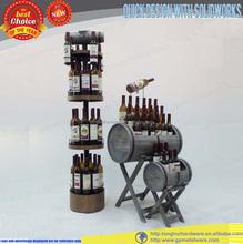 wood water/wine bottle rack