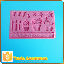 Vela de silicona para hornear moldes para decoración de pasteles