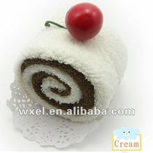 2012 new product Cherry blossoms Swiss roll towel cake