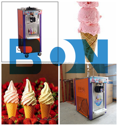 dhl and air express to door worlwide frozen yogurt rolls fry ice cream machine with real fruits
