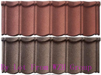 1340*420mm high quality temporary building materials /decorative metal roofing tile/sand dust steel roof tiles
