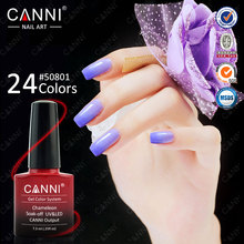 #50801C Guangzhou CANNI Nail Art 24 Fashion Colour Chaging Gel Polish,CANNI 7.3ml Soak Off Chameleon Thermal Paint Color UV Gel