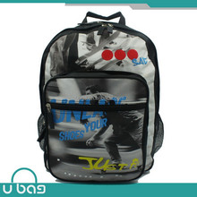 Nice print good supplier polyester new design school bag