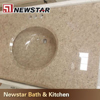 China one piece bathroom sink and countertop