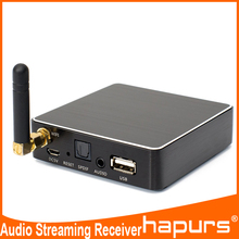 Hapurs Wifi Music Audio Streaming Receiver Range Extender Support DLNA AirMusic play HIFI Music from phone any device with WLAN