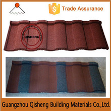Stone coated metal roof tile/Guangzhou roof steel sheet stone coated roof tile