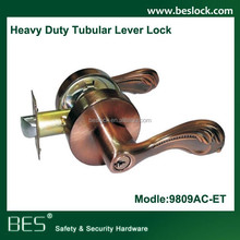 2015 home security locks/tubular lock/lever lockset 9809AC-ET