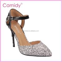 Buckle Belt Blink Ladies Fancy Shoes High Heel