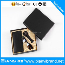 2015 new products for men fashion simple businessmen model men watch gift set
