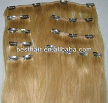 Brazilian remy double weft clip hair Wholesale price