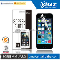 Brand Vmax Mobile phone accessories for iPhone 5/5s screen protector oem/odm (Anti-Glare)
