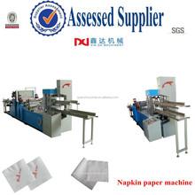Automático de grabación en relieve impresión plegable tejido servilleta de papel vegetal de la máquina