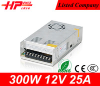 China manufacturer high efficiency CCTV camera power supply constant voltage single output 300w 25a 12v emergency power supply
