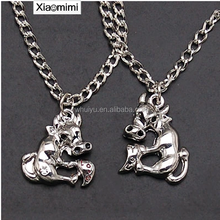 The couple Chinese twelve zodiac Pendant Necklace jewelry accessories cattle Animal Necklace