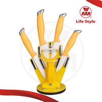 2014 new knife set from WMM kitchen knife ceramic with PP handle