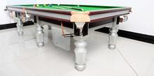 2015 la mejor venta de madera maciza pies Goden alta calidad piscina del billar snooker mesa de juegos