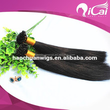 AAAAA grade wholesal price Italy glue any color double drawn silky straight U tip kertain pre-bonded hair 100% human extensions