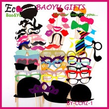 58Pcs/Set Fashion Funny Photo Booth Props Hat Mustache On A Stick Wedding Birthday Party Favor Wedding props Wedding decoration