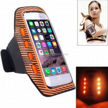 Top grade professional useful flashing cell phone armband case, for iphone 6 armband LED armband