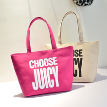 Durable zipper canvas handle bag ,wholesale hot selling tote bag for beautiful girls