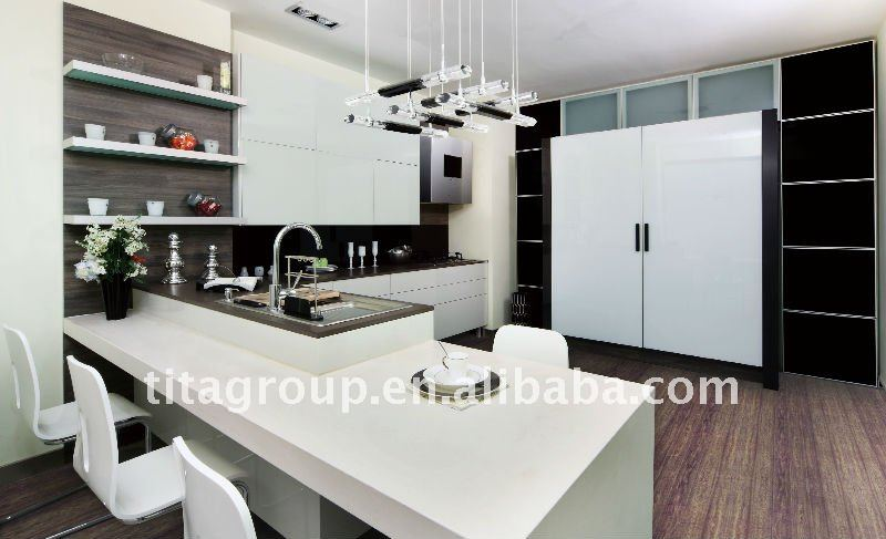 2012 moderne mdf uv haute brillance armoires de cuisine for Cuisine moderne mdf