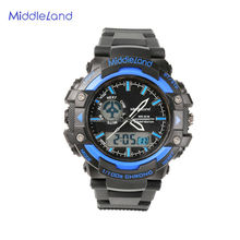 2015 Unisex plastic case silicone wristband watch silicone,MIDDLELAND cheap promotion silicone vogue watch