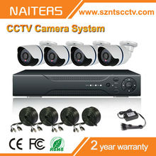 Alibaba Best Selling, with 4pcs 700tvl camera,4ch full D1 cctv dvr kit,home security system