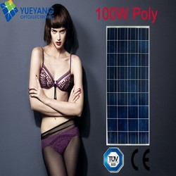 12v 100w solar panel also called 100w poly solar panel for solar power grid system