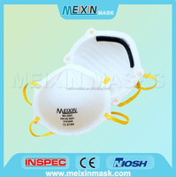 Disposable Protective active carbon FFP2 face mask cone type with valve
