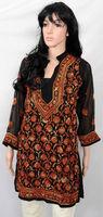 ChikanKari chikan work Lucknow Embroidered Designer Kurti Kurtis Kurta Women Adult