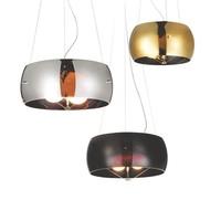 Modern Circular Ring E27 Ball Bulb Chrome Blown Glass Chandelier pendant light with Nickel Gold Black colors,M9019