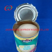 China canned food, canned cake pear halves in light syrup