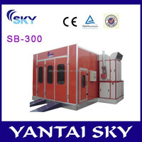 CE approved auto spray painting booth/spray tan booth/spray booth wall panels