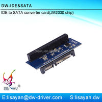 JM20330 40 pin IDE female to 20 pin SATA male adapter with cheap price