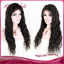 High quality soft natural wave virgin brazilian full lace wig with baby hair for black women