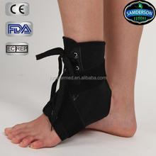 Enhanced strap ankle brace support