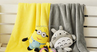 TF-0215083026-S1 minion Totoro Plush Air Conditioning Blanket Nap Blanket for Home Use