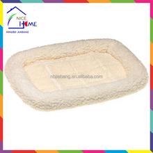 Hot sell crate fleece sheepskin pet bed