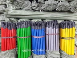Hot selling round pvc coated wooden stick with low price
