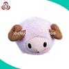 Custom big head purple sheep doll with long horn