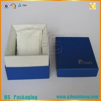 Custom made cheap gift large paper watch box with pillow insert