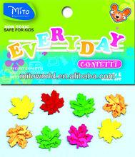 20*18mm maple leaf shape confetti