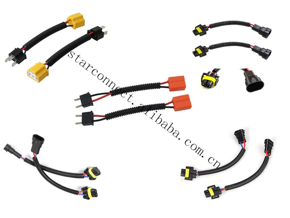 9005 9006 h4 h7 h11 fog light head light wiring harness