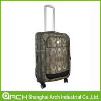 snakeskin print suitcase travel luggage