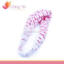 Simple Stripe Print Elastic Hair Wrap Headband Hair Accessories for Newborn Infant Baby Girls