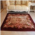 hecho a máquina de alta calidad de la flor en forma de alfombras