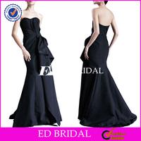 Fishtail Sweetehart Sleeveless Ruched Navy Blue Taffeta Evening Dresses